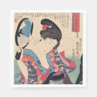 Serviette En Papier Geisha et miroir