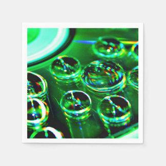 Serviette En Papier Gouttelettes d'eau sur la surface CD