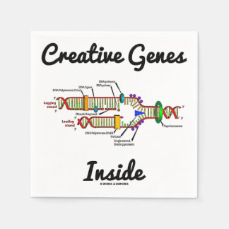 Serviette En Papier Intérieur créatif de gènes (reproduction d'ADN)