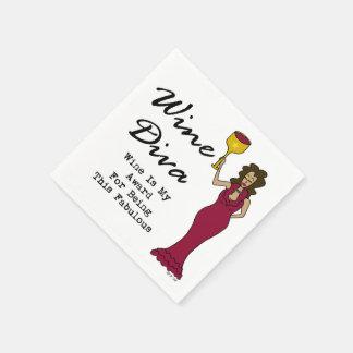 """Serviette En Papier La diva """"vin de vin est ma récompense pour être"""