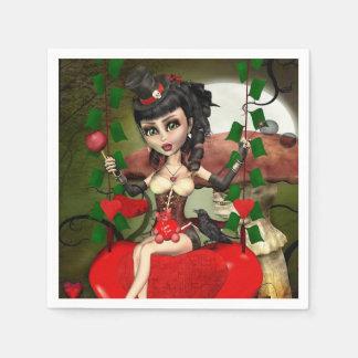 Serviette En Papier La sucrerie Apple aiment les serviettes gothiques