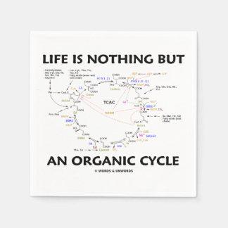 Serviette En Papier La vie n'est rien mais un cycle de Krebs organique