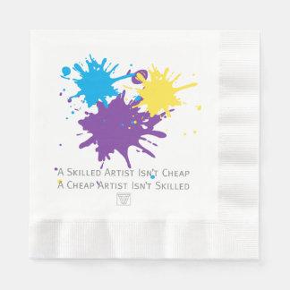Serviette En Papier L'art n'est pas bon marché