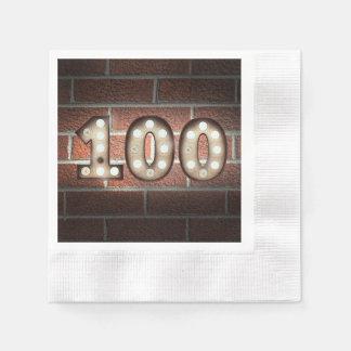 Serviette En Papier le 100th chapiteau d'anniversaire se connectent le