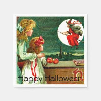 Serviette En Papier Le cru badine la partie de Halloween de lune de