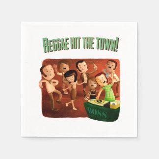 Serviette En Papier Le reggae a frappé la ville !
