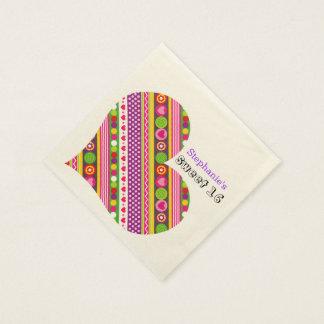 Serviette En Papier Le résumé coloré fleurit la serviette du bonbon 16