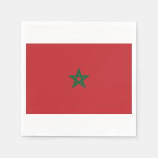 Serviette En Papier Les serviettes «drapeau marocain».