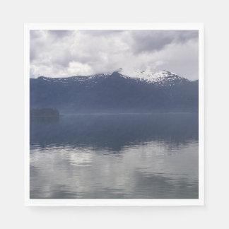 Serviette En Papier Mer d'Alaska brumeuse à de belles nuances de bleu