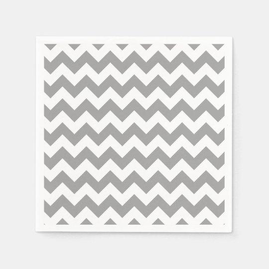 Serviette en papier motif en zig zag blanc gris fonc de chevron - Serviette en papier motif ...