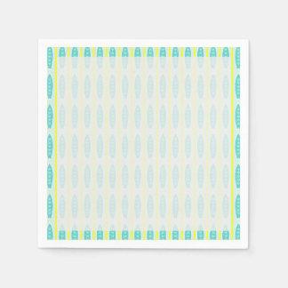 Serviette En Papier Motif turquoise de planches de surf