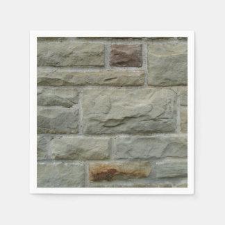 Serviette En Papier Mur en pierre de bloc