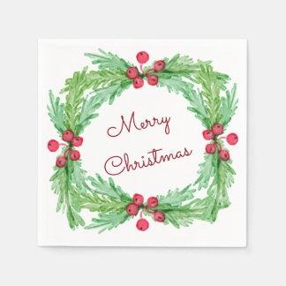Serviette En Papier Noël de baie de houx