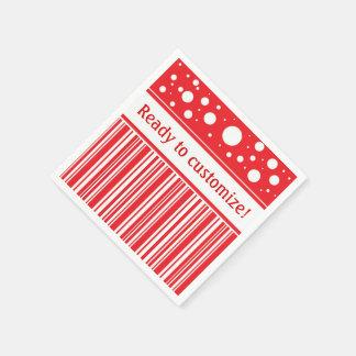 Serviette En Papier Noël rouge et blanc