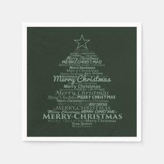 Serviette En Papier Noël vert d'arbre de serviettes de papier