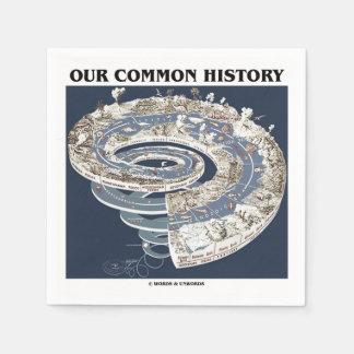 Serviette En Papier Notre histoire commune (spirale de chronologie