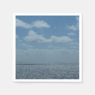 Serviette En Papier Océan ensoleillé de bleu de mer des Caraïbes