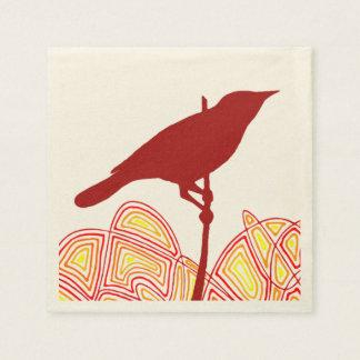 Serviette En Papier Oiseau
