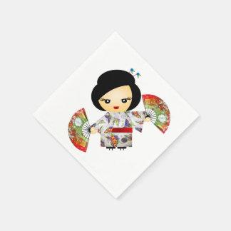 Serviette En Papier Papillon de geisha