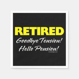 Serviette En Papier Pension retirée de Hellow (foncée)