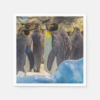 Serviette En Papier Pingouins au zoo