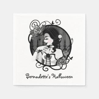Serviette En Papier Portrait victorien gothique de vampire