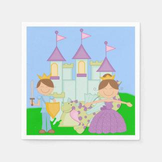 Serviette En Papier Prince et princesse serviettes de papier de brune