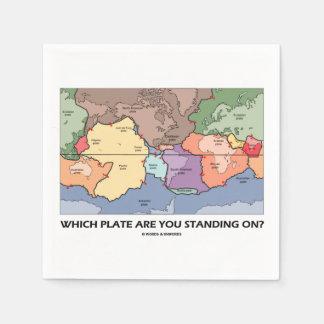 Serviette En Papier Quel plat vous tenez-vous dessus ? (Tectonique de