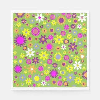 Serviette En Papier Rétro ou moderne motif coloré d'impression de