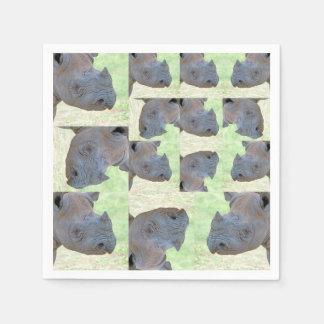 Serviette En Papier Rhinocéros noir