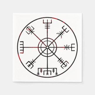 Serviette En Papier Runes protectrices islandaises de Vegvisir