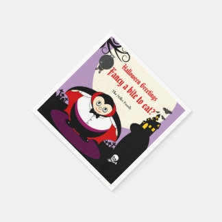 Serviette En Papier Scène de Dracula de vampire de Halloween de bande