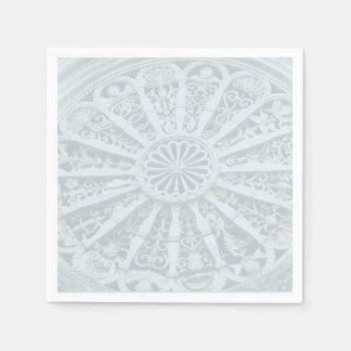 Serviette En Papier Serviette architecturale grise et bleue de détail