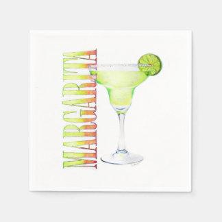 Serviette En Papier Serviette de cocktail de margarita