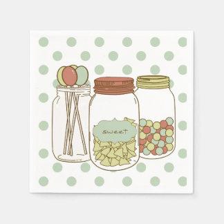 Serviette En Papier Serviette douce de cocktail de pot et de sucrerie