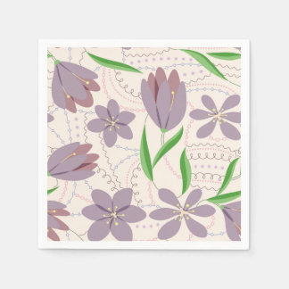 Serviette En Papier Serviette lilas de crocus