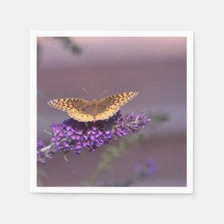 Serviette En Papier Serviette pourpre de papillon de ciel