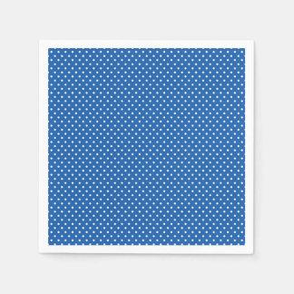 Serviette En Papier Serviettes bleues et blanches lumineuses