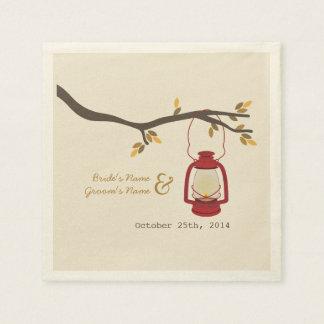 Serviette En Papier Serviettes de mariage de automne de lanterne de