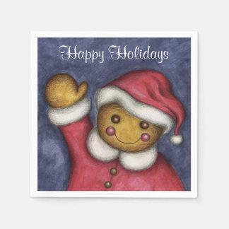 Serviette En Papier Serviettes de Noël de garçon de pain d'épice