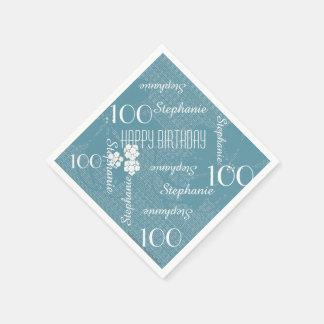 Serviette En Papier Serviettes de papier, 100th fête d'anniversaire,