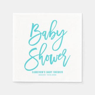 Serviette En Papier Serviettes de papier de baby shower en lettres