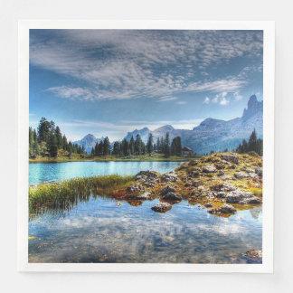 Serviette En Papier Serviettes de papier de beau de montagne paysage