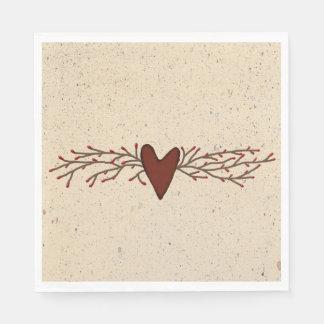 Serviette En Papier Serviettes de papier de coeur de baie de pépin