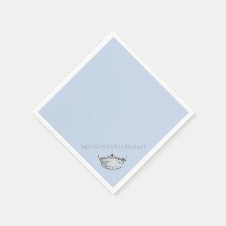 Serviette En Papier Serviettes de papier de couronne argentée de Mlle