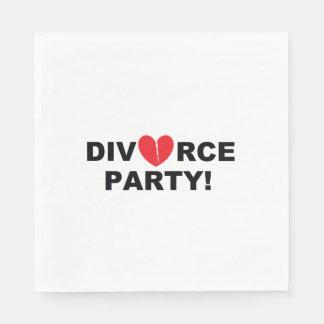 """Serviette En Papier Serviettes de papier """"de partie de divorce"""""""