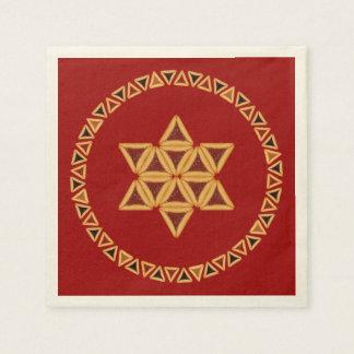 Serviette En Papier Serviettes de papier d'étoile de David de