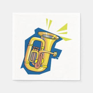 Serviette En Papier Serviettes de papier d'instrument de tuba