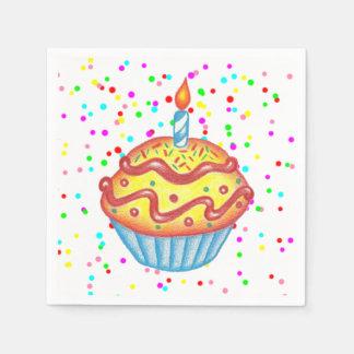 Serviette En Papier Serviettes de petit gâteau de célébration