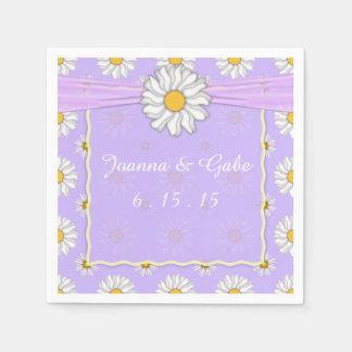 Serviette En Papier Serviettes florales de mariage de lavande et de